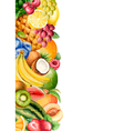 Watercolour fruit banner for your design vector image