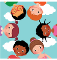 Happy kids in a circle vector image