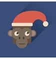 Flat web icon with long shadow Monkey vector image