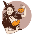halloween pinup girl vector image vector image