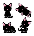 Abstract cute kitten set vector image