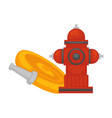 fire extinguishing equipment extinguisher hydrant vector image