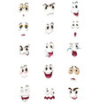 Mixed expressions vector image