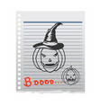 pumpkin doddle character on paper vector image