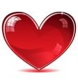 Red shiny heart vector image