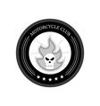 Retro Motorcycle Club Logo on white background vector image