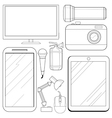 set of consumer electronics vector image