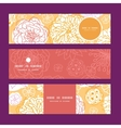 warm day flowers horizontal banners set vector image