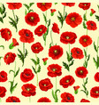 spring flower field seamless pattern background vector image