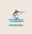 swordfish for fishing design vector image