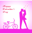 Doodle lovers a boy and a girl riding tandem bicy vector image vector image