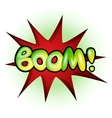 Boom - comic book explosion vector image