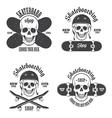 Skateboard emblems 2 vector image