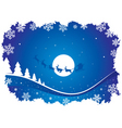 holiday blue background with s vector image