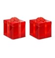 red box with bow vector image vector image