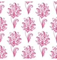 Pink paisley floral seamless pattern vector image