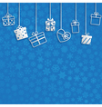 Background with gift boxes vector image