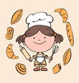 girl cook 2 vector image