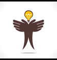 save energy or idea concept vector image