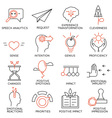 Set of icons related to business management - 23 vector image