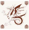 vintage medieval dragon vector image