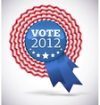 Vote 2012 USA Badge vector image vector image