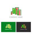 building cityscape colorful logo vector image