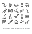 collection of music instruments icons vector image