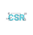 Corporate social responsibility vector image