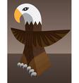 eagle totem vector image