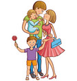 happy family with two children vector image