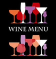 WineMenu vector image