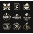 Coffee shop vintage isolated label set vector image