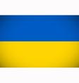 National flag of Ukraine vector image