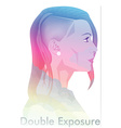 Double Exposure vector image