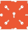 Orange key pattern vector image