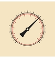 Modern manometer without numbers vector image