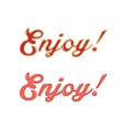 red sauce enjoy text vector image