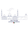 abu dhabi city skyline vector image