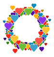 Circle frame with hearts for your text vector image