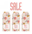 Set of sale tags Different values discount vector image
