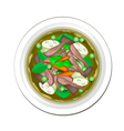 Thai Green Curry with Beef and Green Eggplant vector image