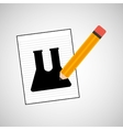 research chemical test tube lab drawing icon vector image