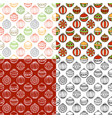 set of seamless pattern of christmas baubles vector image