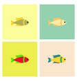 aquarium fish set vector image vector image