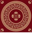 golden round Greek ornament Meander vector image