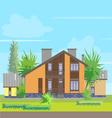 House V vector image