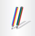 color pencil rgb cmyk vector image