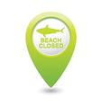 shark icon green pointer vector image vector image
