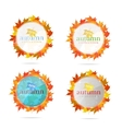 abstract creative emblem sign set isolated vector image vector image